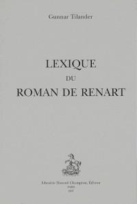 Lexique du Roman de Renart