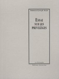Essai sur les privilèges