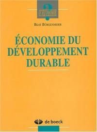 Economie du développement durable