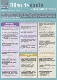 Bilan de santé, les principaux examens : L'essentiel en toute clarté