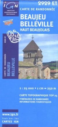 Beaujeu, Belleville : Haut Beaujolais, 1/25 000