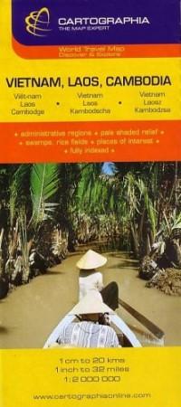Vietnam, Laos, Cambodia : 1/2 000 000