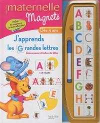 J'apprends les grandes lettres dès 4 ans : Avec magnets