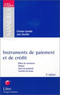 Instruments de paiements et de crédit (ancienne édition)