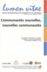 Lumen Vitae, N° 4, Octobre-Novemb : Communautés nouvelles, nouvelles communautés