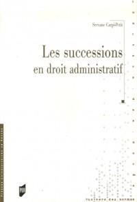 Les sucessions en droit administratif