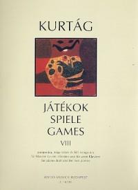 Partition classique EMB (Editio Musica Budapest) KURTAG G. - JATEKOK VOL. 8 - PIANO 4 MAINS ET 2 PIANOS Piano