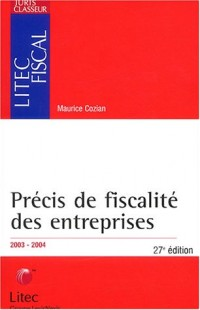 Précis de fiscalité des entreprises 2003/2004 (ancienne édition)