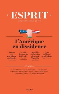 Revue Esprit N 434 l'Amerique en Dissidence