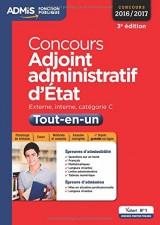 Concours Adjoint administratif d'État - Catégorie C - Tout-en-un - Concours 2016-2017