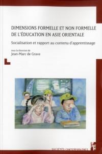 Dimensions Formelle et Non Formelle de l Education en Asie Orientale