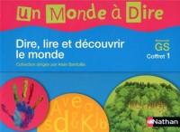 Un monde à dire Maternelle GS Coffret 1 : Dire, lire et découvrir le monde (2CD audio)