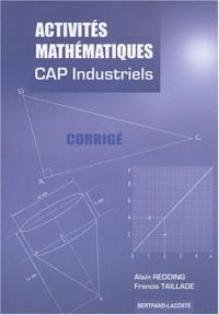 Activités mathématiques CAP industriels : Corrigé