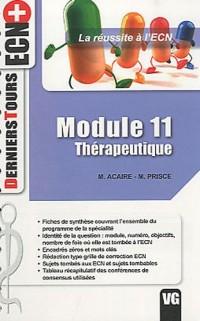 Thérapeutique : Module 11