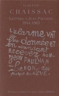 Lettres à Jean Paulhan 1944-1963