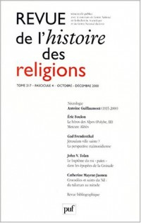 Revue d'histoire des religions t.217 fasc. 4 oct.-dec. 2000