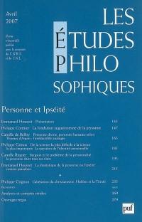 Etudes philosophiques, N° 2