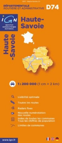 Haute-Savoie : 1/200000