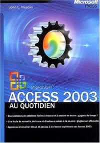 Access 2003 au quotidien