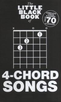 The Little Black Book of 4-Chord Songs. Partitions pour Paroles et Accords