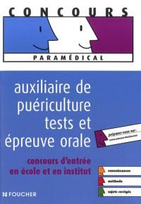 Auxiliaire de puériculture tests et épreuve orale