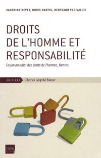 Droits de l'homme et responsabilité : Forum mondial des droits de l'homme, Nantes
