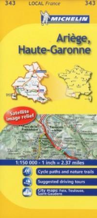 Michelin Map France: Arige, Haute-garonne 343