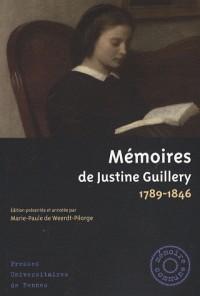 Mémoires de Justine Guillery : 1789-1846