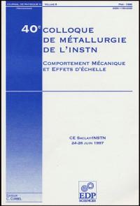 40e colloque de metallurgie de l instn:comportement mecaniq.