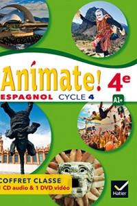 Animate - Espagnol 2e année LV2 Éd. 2017 - coffret CD/DVD