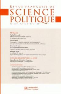 Revue Française de Sciences Politiques Vol 61tome 5