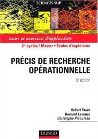 Précis de recherche opérationnelle : Méthodes et exercices
