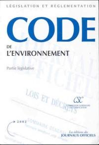 Code de l environnement partie legislative