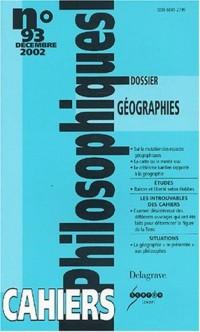 Revue les cahiers philosophiques, numéro 93 : Les Cahiers philosophiques, philosophie