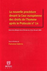 La nouvelle procédure devant la Cour européenne des droits de l'homme après le Protocole n°14 : Actes du colloque tenu à Ferrara les 29 et 30 avril 2005