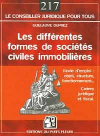 Les différentes formes de sociétés civile immobilières