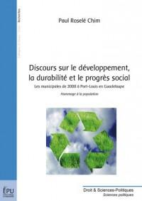 Discours sur le développement et la durabilité