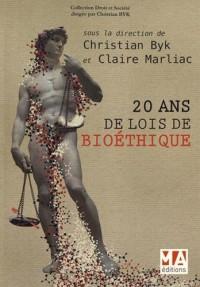 20 ans de lois de bioéthique