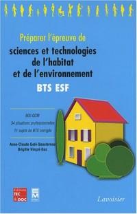 Préparer l'épreuve de sciences et technologies de l'habitat et de l'environnement