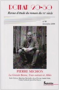 Pierre Michon Revue Roman 20-50 N48