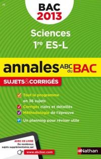 Annales bac 2013 sciences première es l corriges n08