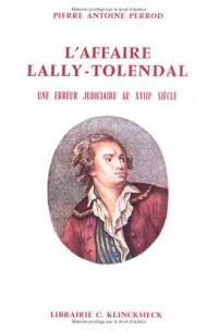 Affaire lally-tolendal. une erreur j(l')