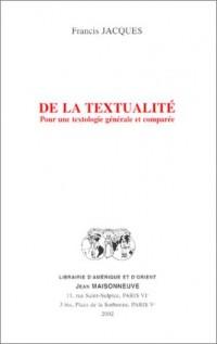 De la textualité : Pour une textologie générale et comparée