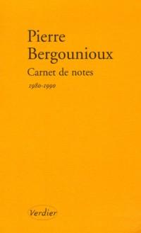 Carnet de notes : Journal 1980-1990