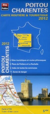 Poitou Charentes, Carte Régionale Routiere Touristique N 110. Plan de Ville de Poitiers 1/200000