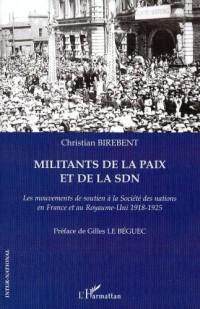 Militants de la paix et de la SDN