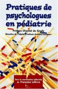 Pratiques de psychologues en pédiatrie : Hôpital d'enfants Armand-Trousseau