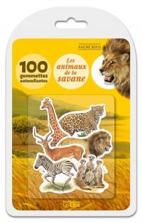 Ma boîte à gommettes documentaire: Les animaux de la savane - De 3 à 5 ans