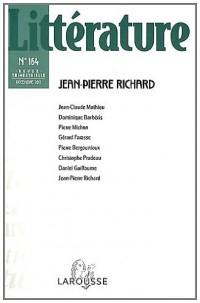 Littérature, N° 164, Décembre 201 : Jean-Pierre Richard