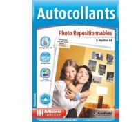 Autocollants photo repositionnables